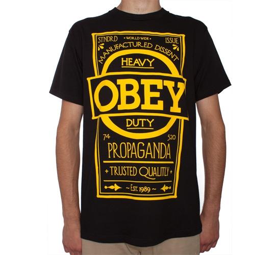 Obey Label T-Shirt (Black)