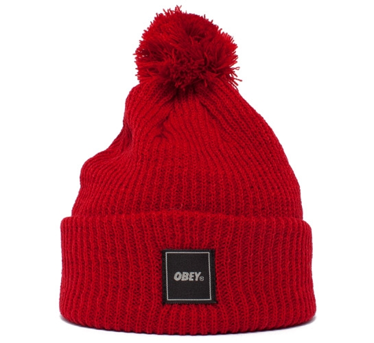 Obey Late For Class Beanie (Red)