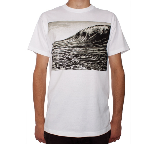 Obey Oil Wave T-Shirt (White)