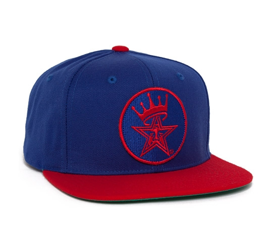 Obey Ordained Snapback Cap (Blue/Red)