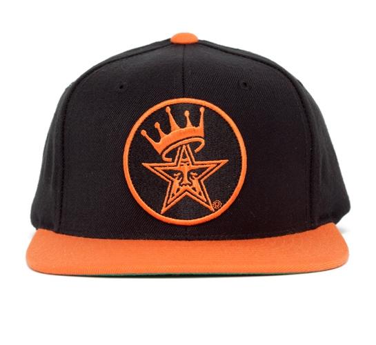 Obey Ordained Snapback Cap (Black/Orange)