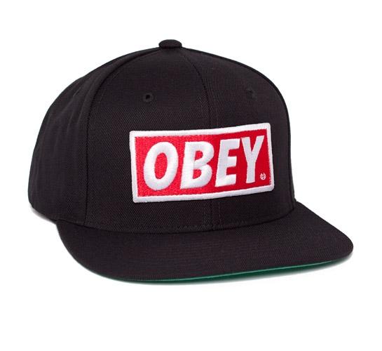 Obey Original Snapback Cap (Black)