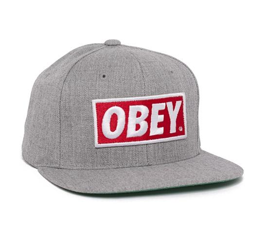 Obey Original Snapback Cap (Heather Grey)