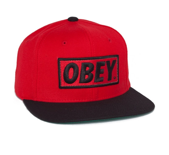 Obey Original Snapback Cap (Red/Black)