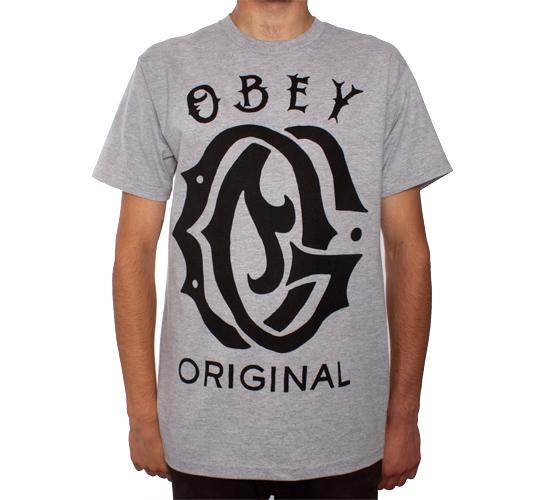 Obey Original T-Shirt (Heather Grey)