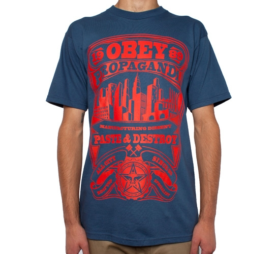 Obey Rooftop Specialist T-Shirt (Patrol Blue)