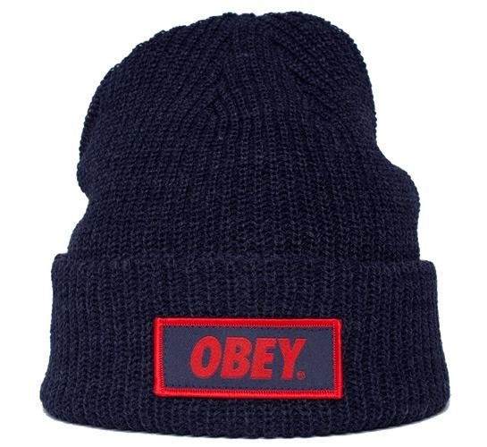 Obey Standard Issue Beanie (Dark Navy)