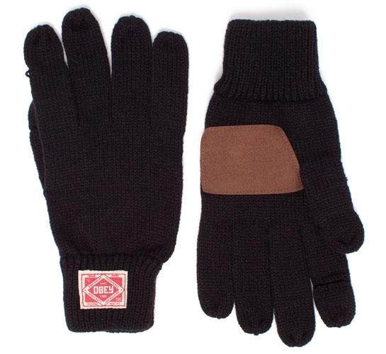 Obey Standard Issue Gloves (Black)