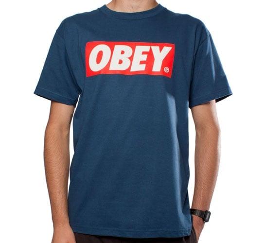 Obey Bar Logo T-Shirt (Patrol Blue)