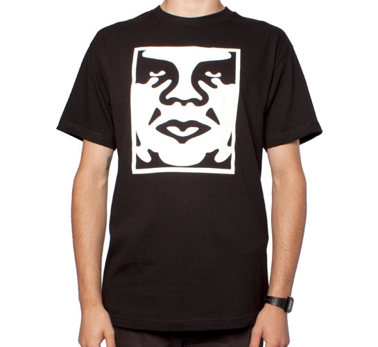 Obey Icon Face T-Shirt (Black)