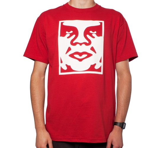 Obey Icon Face T-Shirt (Red)
