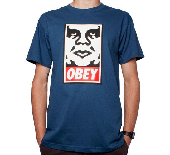 Obey Icon T-Shirt (Patrol Blue)