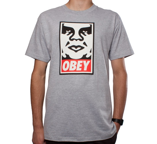Obey Icon T-Shirt (Heather Grey)