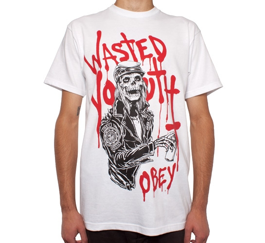 Obey Wasted Youth T-Shirt (White)