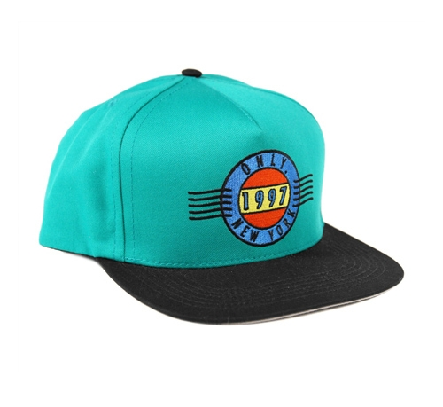 ONLY NY First Class Snapback Cap (Teal/Black)