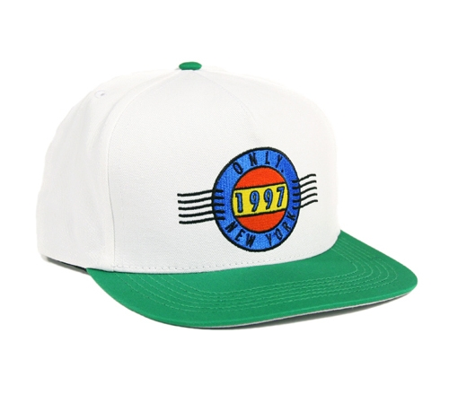 ONLY NY First Class Snapback Cap (White/Kelly)