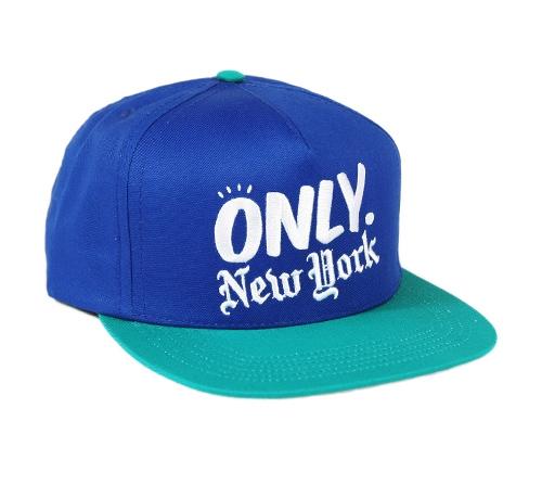 ONLY NY Logo Snapback Cap (Royal/Teal)