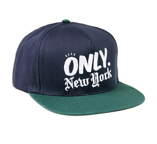 ONLY NY Logo Snapback Cap (Navy/Hunter Green)