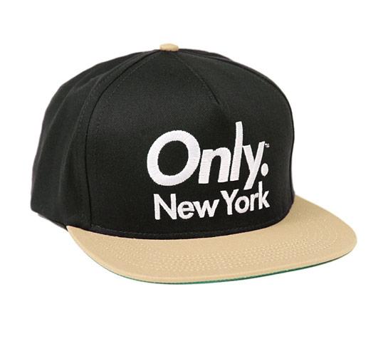 ONLY NY Sports Logo Snapback Cap (Black/Tan)
