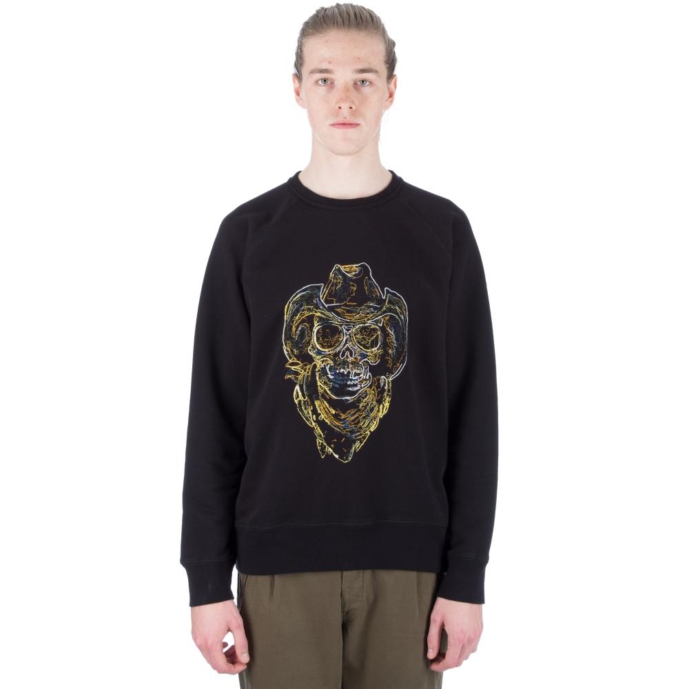 Our Legacy Neon Skull 50's Great Crew Neck Sweatshirt (Black)