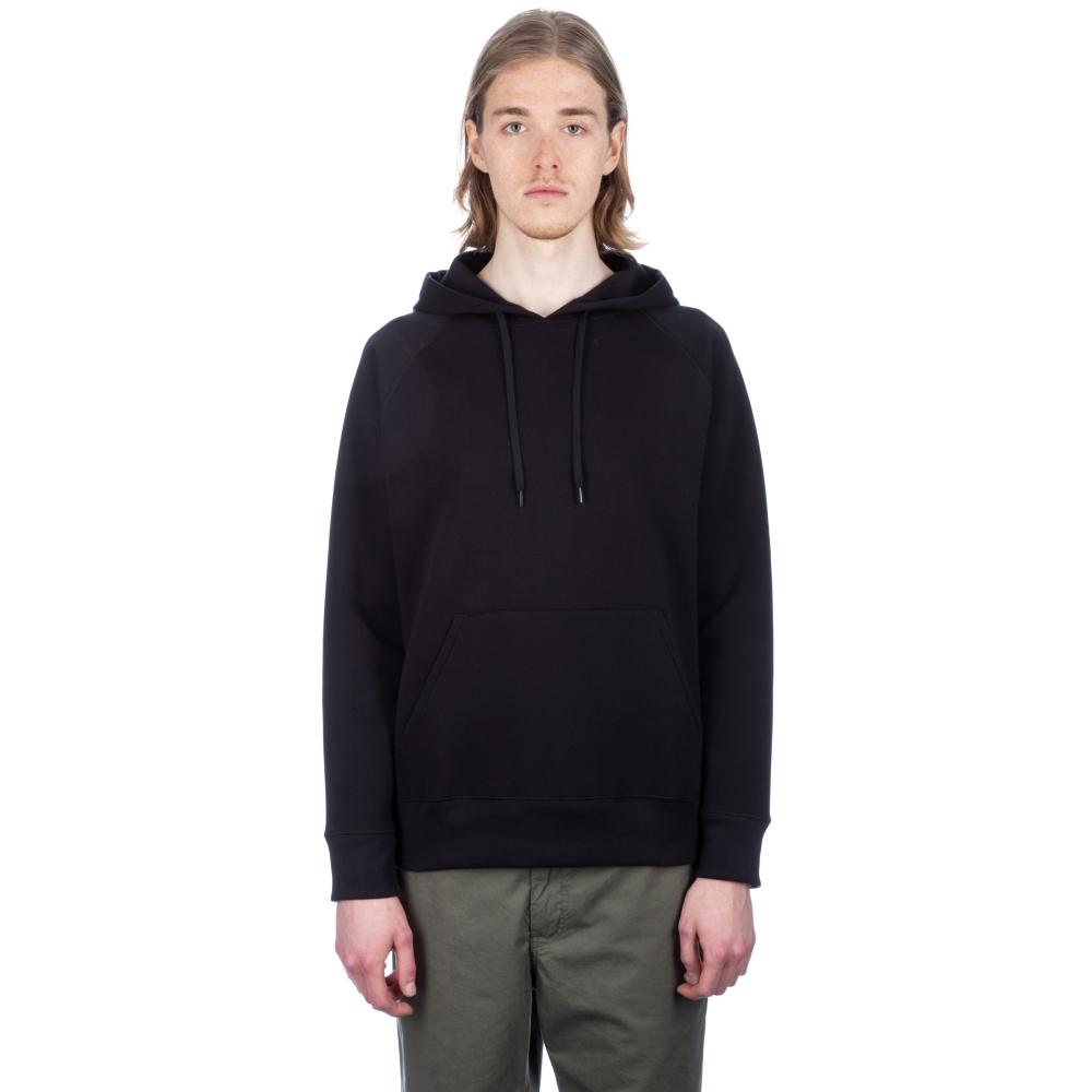Our Legacy Single Pullover Hooded Sweatshirt (Black Scuba)