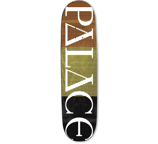 "Palace Skateboard Deck - 7.5"" Team (Palace Stripe Logo)"