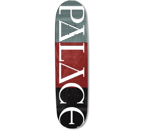 "Palace Skateboard Deck - 7.75"" Team (Palace Stripe Logo)"