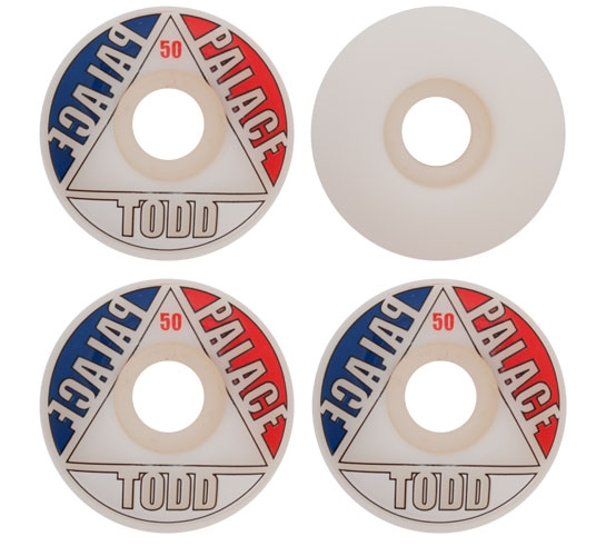 Palace Skateboard Wheels - 50mm Olly Todd Pro Wheels (White)