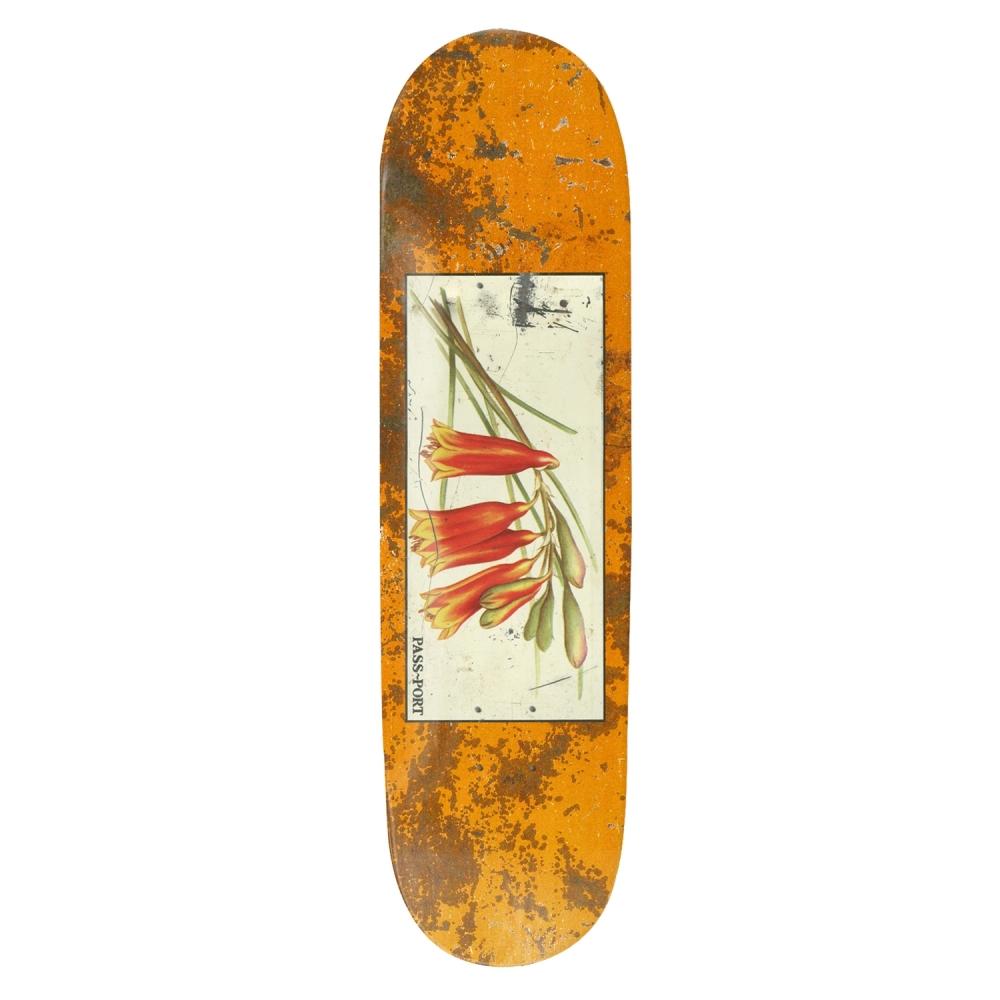 """PASS~PORT Tin Floral Bells Skateboard Deck 8.5"""" (Yellow)"""