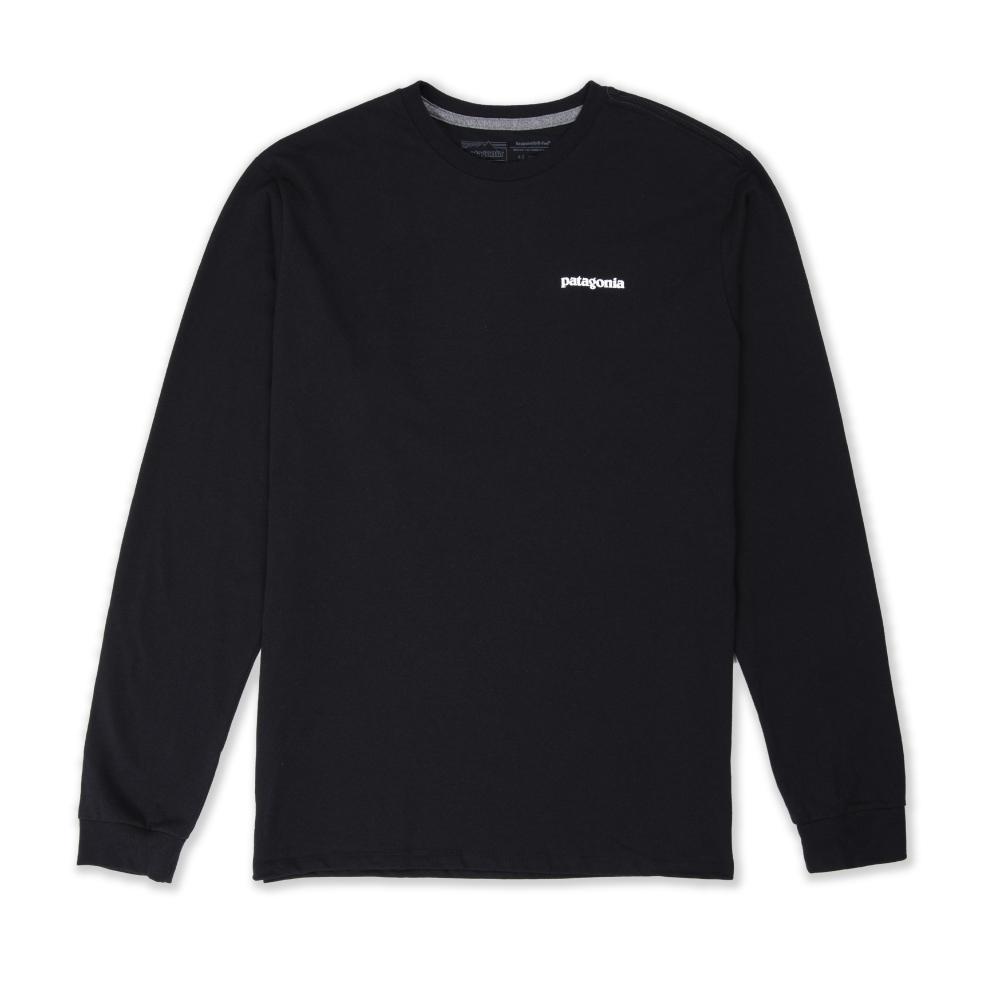 Patagonia P-6 Logo Responsibili-Tee Long Sleeve T-Shirt (Black)