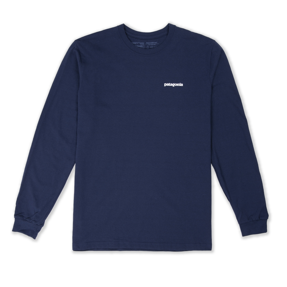 Patagonia P-6 Logo Responsibili-Tee Long Sleeve T-Shirt (Classic Navy)