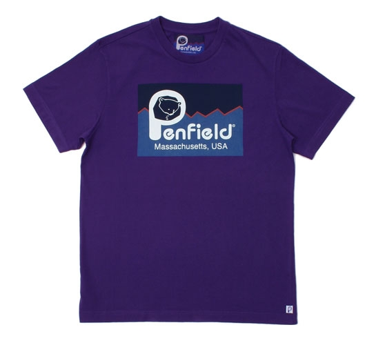 Penfield Men's T-Shirt - Original Logo (Purple)
