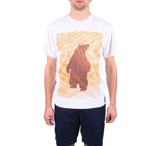 Penfield Woodcut Bear T-Shirt (White)