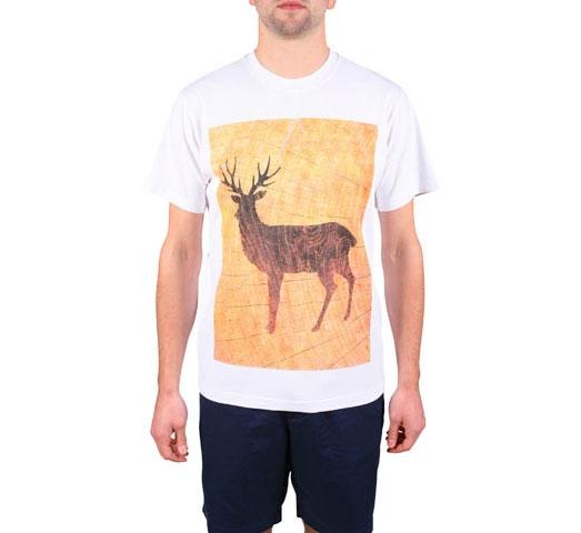 Penfield Woodcut Deer T-Shirt (White)