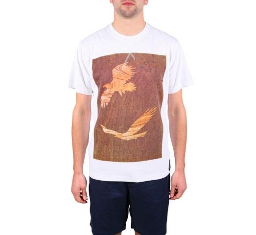 Penfield Woodcut Eagle T-Shirt (White)