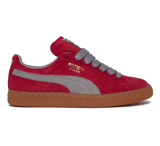 Puma Suede (Jester Red/Limestone Gray)