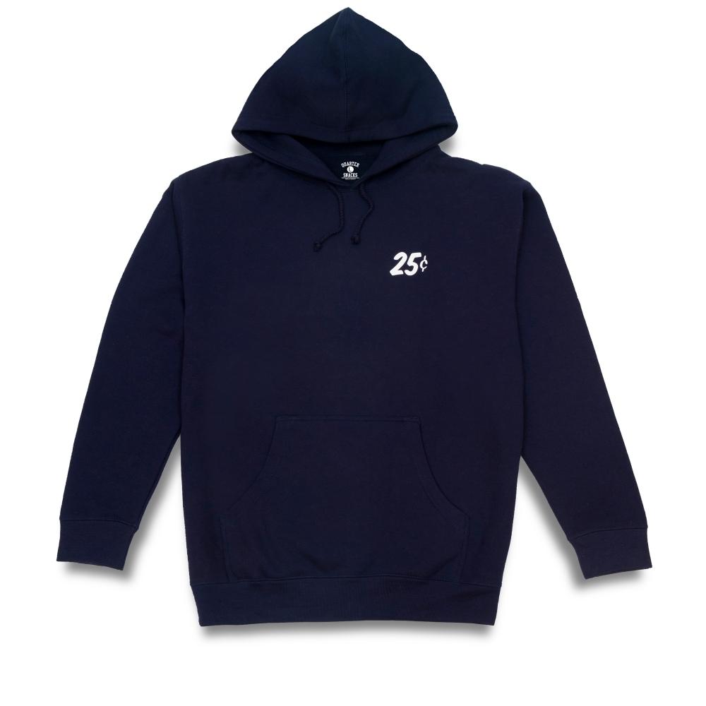 Quartersnacks Classic Snackman Pullover Hooded Sweatshirt (Navy)