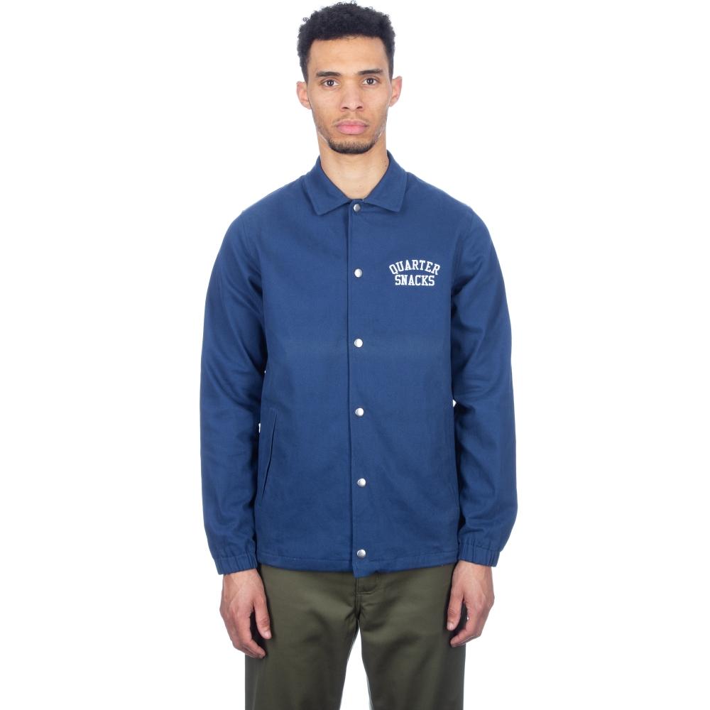 Quartersnacks Cotton Canvas Coach Jacket (Navy)
