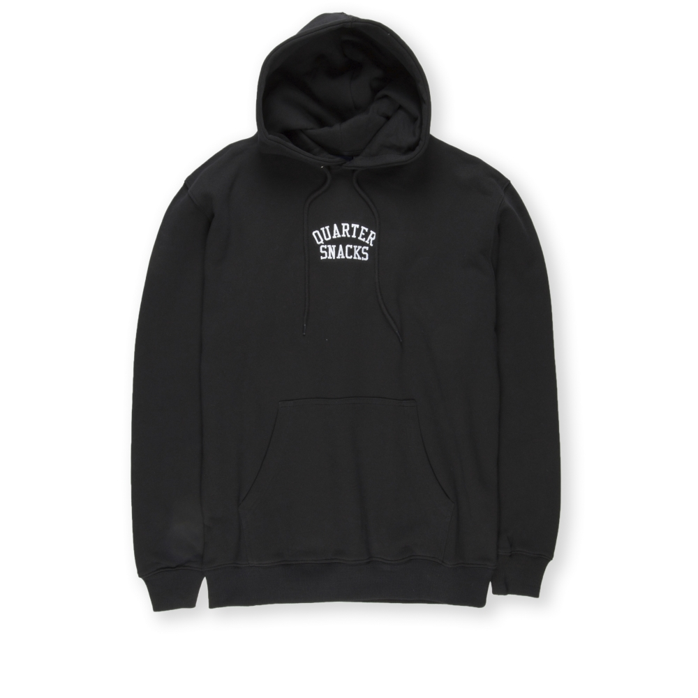 Quartersnacks Embroidered Arch Pullover Hooded Sweatshirt (Black)
