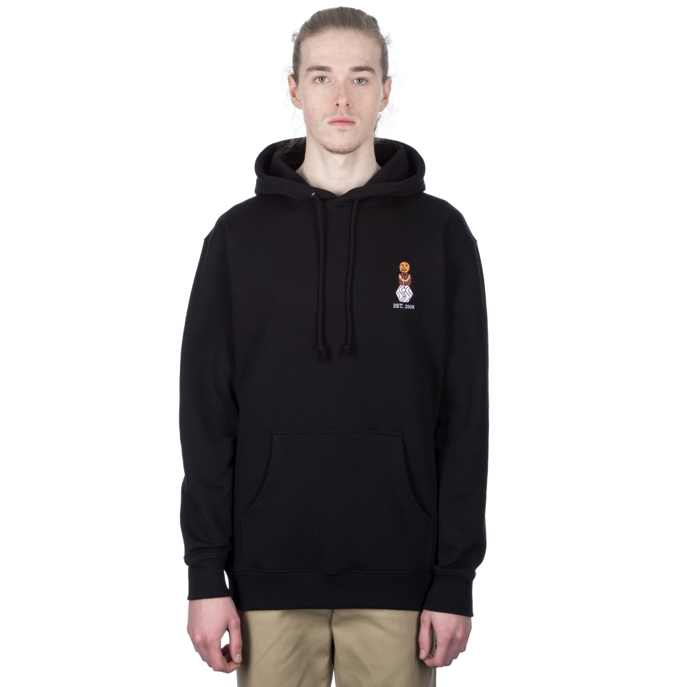 Quartersnacks Snackman Embroidered Pullover Hooded Sweatshirts (Black)