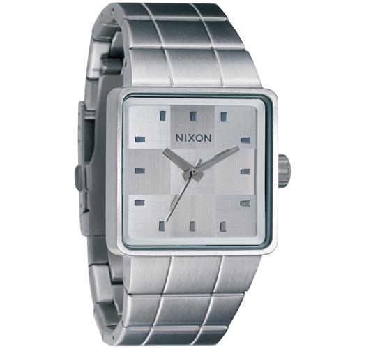 Nixon The Quatro Watch (Sanded Steel/White)