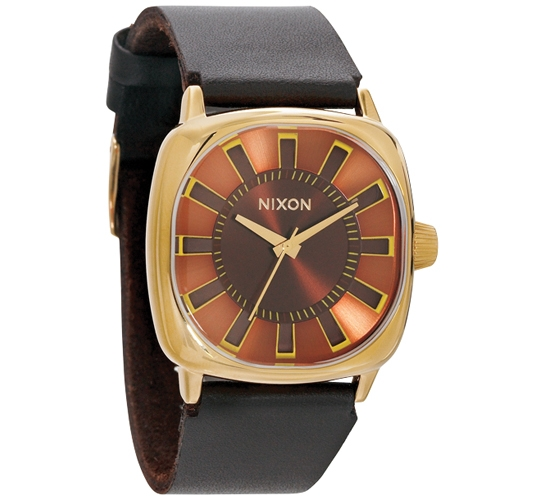 Nixon The Revolver Watch (All Gold/Brown)