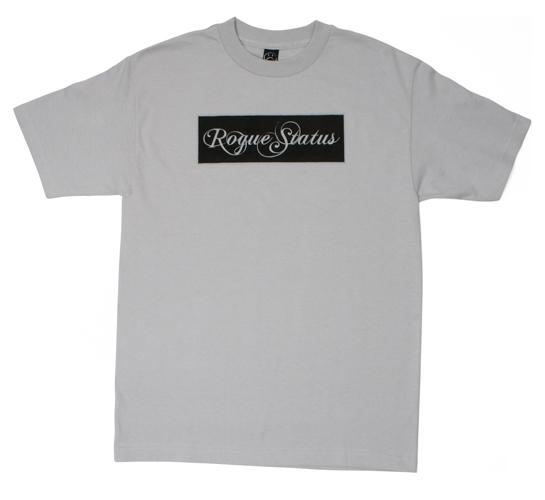 Rogue Status Men's T-Shirt - Classic Box Logo (Silver)