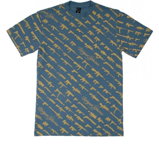 Rogue Status Men's T-Shirt - Gunshow Script (Slate Blue)