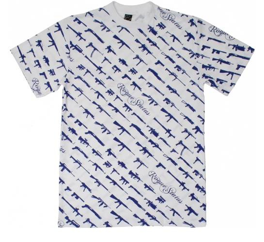 Rogue Status Men's T-Shirt - Gunshow Script (White)