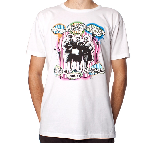 Silas X European Bob Gossip Girls T-Shirt (White)