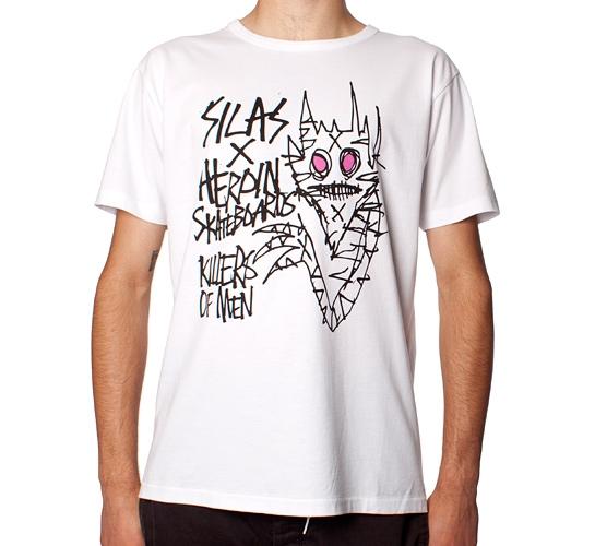 Silas X Heroin Skateboards Killers T-Shirt (White)