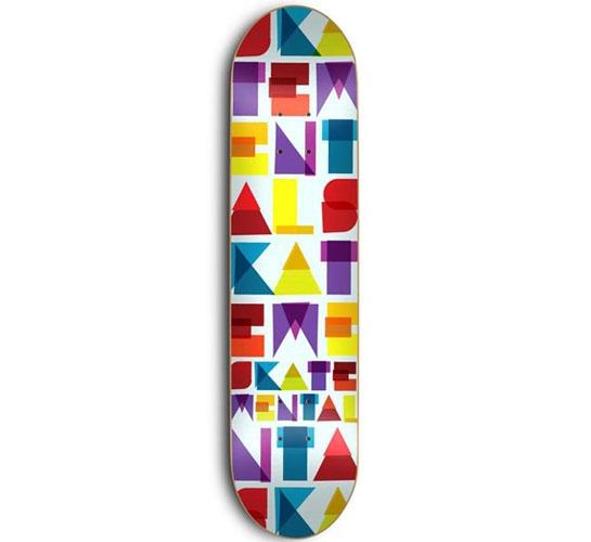 "Skate Mental Skateboard Deck - 7.875"" Team (Colour Block)"