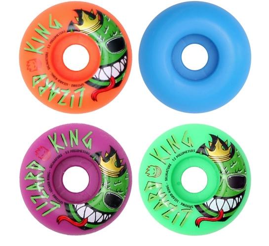 Spitfire Skateboard Wheels - 52mm Lizard King (Multi)