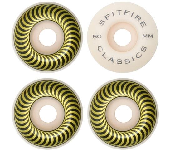 Spitfire Skateboard Wheels - 50mm Classics (White)